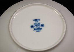 Mon Amie side plate m white border M Westman