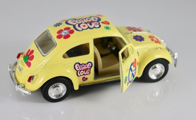 VW PEACE & LOVE 1967 Gul